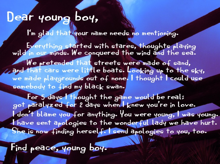 Letter to a young boy