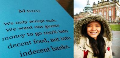 around berlin germany, cash only