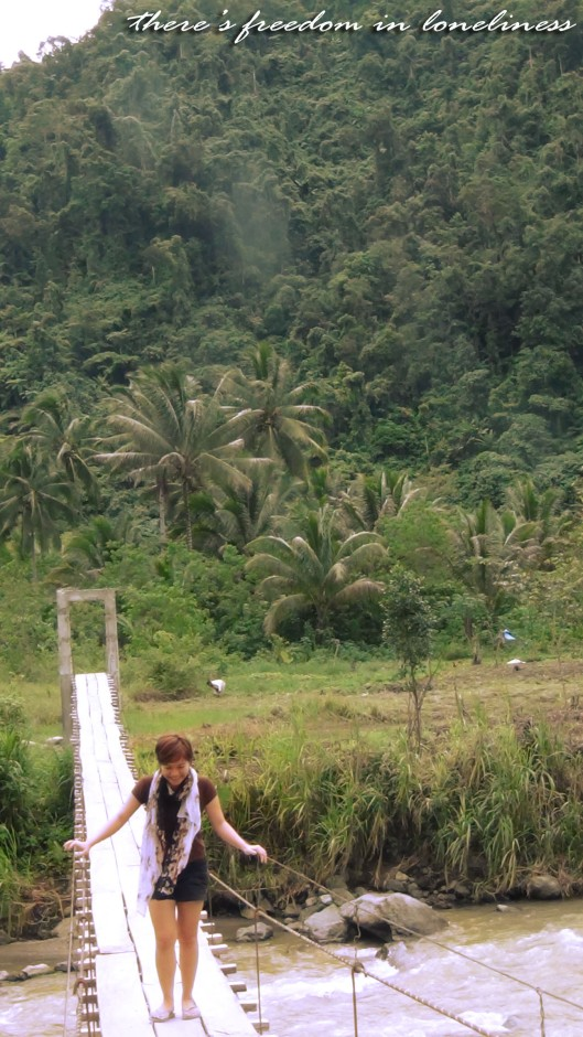 There's freedom in loneliness, Maragusan, Compostela Valley, hanging bridge, wooden bridge, mountain, forest